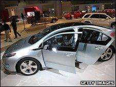 A GM Chevrolet Volt at the Los Angeles car show