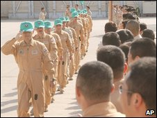 Japanese personnel prepare to leave Kuwait on 15/12/08