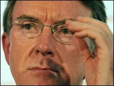 Business Secretary Lord Mandelson