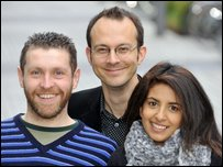 Dave Gorman, Tim Harford and Konnie Huq