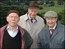 Current Last of the Summer Wine stars Brian Murphy, Frank Thornton and Peter Sallis