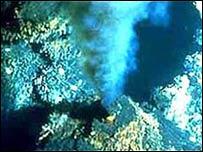 Corriente hidrot�rmica oce�nica
