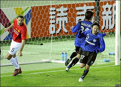Hashimoto celebrates his fine late goal