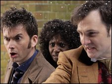 David Tennant, Velile Tshabalala and David Morrissey