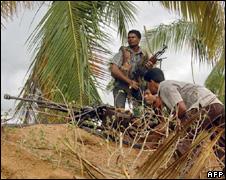 Tamil Tigers near Kilinochchi