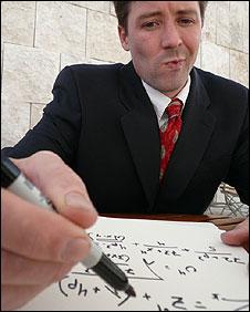 Man doing maths