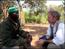 Colonel Maradas Lakoue, with Mike Thomson