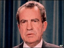 Richard Nixon after his resignation in 1974