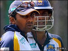 Sri Lanka captain Mahela Jayawardene (left) and team-mate Prasanna Jayawardene