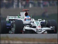 Honda Racing's Jenson Button