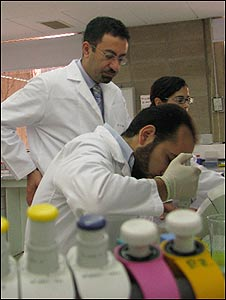 Lebanese team of geneticists led by Dr Pierre Zalloua (standing)