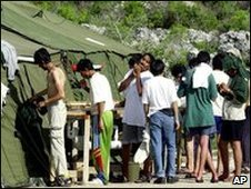 Asylum seekers in Nauru (file image from 2001)