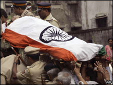 Hemant Karkare funeral procession on 29 November