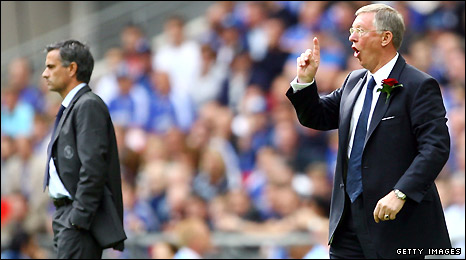 Jose Mourinho and Sir Alex Ferguson