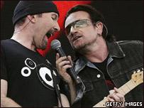 The Edge y Bono