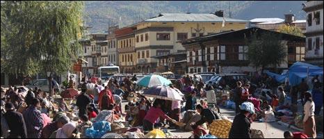 Thimphu market scene