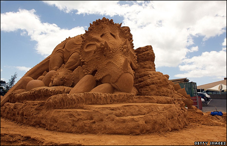 A sand sculpture in Melbourne, Australia