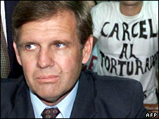 Alfredo Astiz, pictured in court in 2000