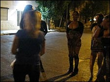 Prostitutes on the streets of La Plata