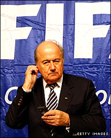 Fifa president Sepp Blatter