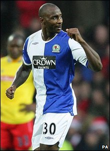 Jason Roberts takes the plaudits for Blackburn's second goal