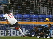 Ricardo Gardner (left) scores Bolton's second