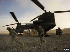 US troops in Khost (10 November 2008)