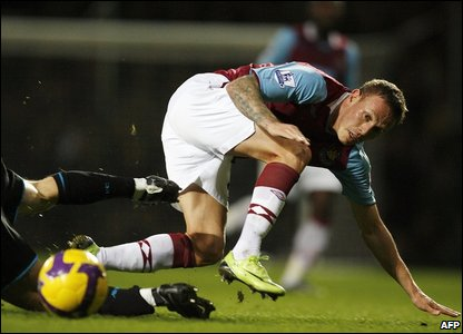 After the goal feasts of early on, this proves to be a more battling affair as West Ham's Craig Bellamy discovers