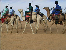 Tuareg on camels (file)
