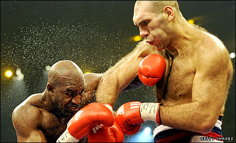 Evander Holyfield and Nikolai Valuev