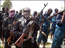 Islamist fighters near Mogadishu - 11/12/2008