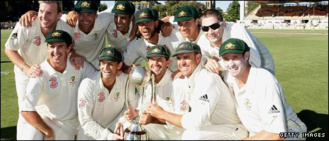 Australia celebrate after winning the Test series 2-1