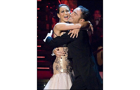 Rachel Stevens and Vincent Simone in the final