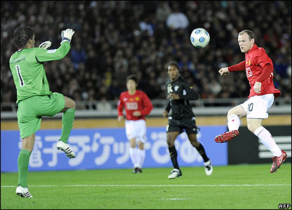 Rooney goes close