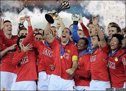 Man Utd celebrate their win