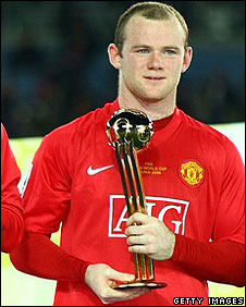 Rooney receives the Golden Ball for his performance