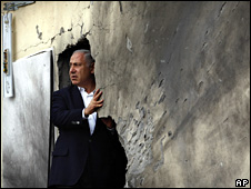 Benjamin Netanyahu in Sderot (21 December 2008)