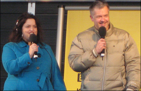 Ruth Jones and Derek Brockway