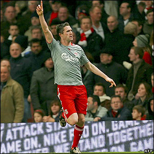 Keane celebrates his equaliser