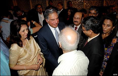 Ratan Tata greets guests