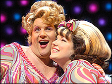 Michael Ball (left) and Leanne Jones in Hairspray
