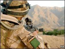 UK serviceman in Afghanistan