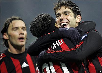 Marek Jankulovski, Ronaldinho and Kaka