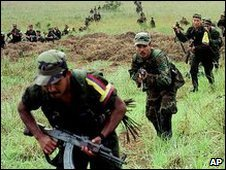 Farc rebels in Colombia (file image)