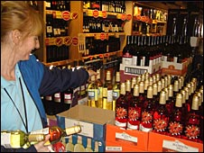 Shopper buys alcohol