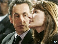 Nicolas Sarkozy and wife Carla Bruni, 8 Dec