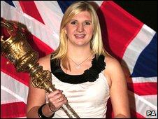 Olympic champion Rebecca Adlington is awarded the Freedom of Mansfield in November 2008