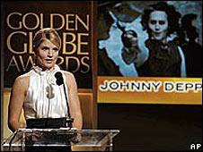 TV presenter Dayna Devon at the Golden Globe annoucements