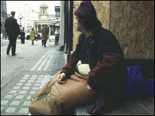 A homeless person (library picture)