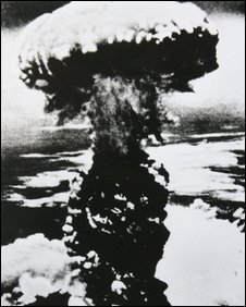 Nuclear bomb explodes over Japanese city of Nagasaki on 9 August 1945